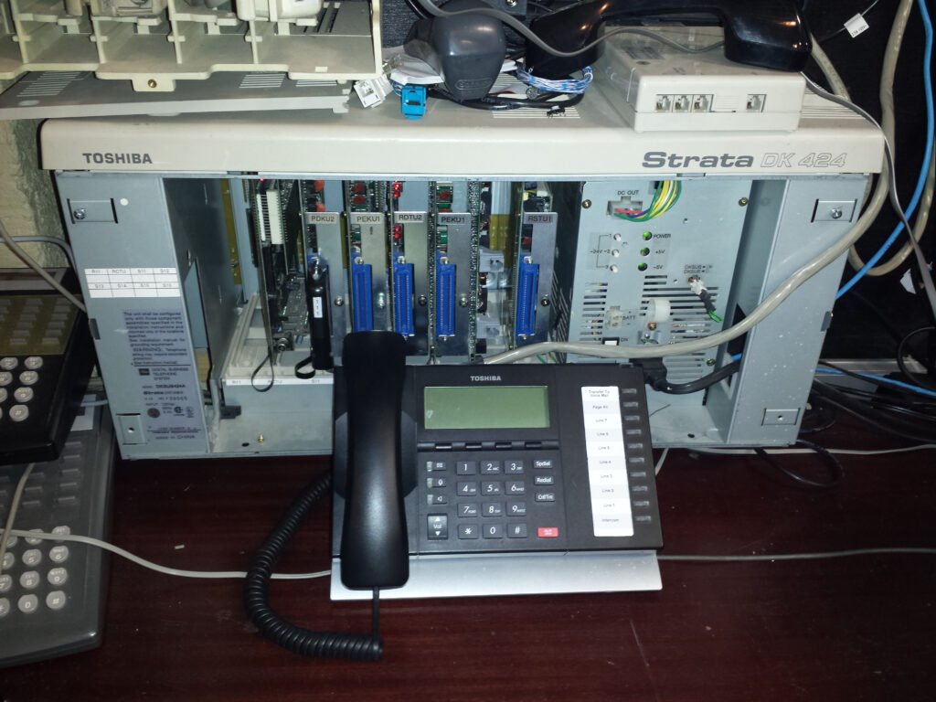 Toshiba Strata Dk 424 Pbx Phone System Technical Support